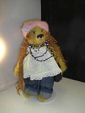 Hippie Girl Teddy Bear Dressed Doll One of a Kind 2009 Modified Ty Plush