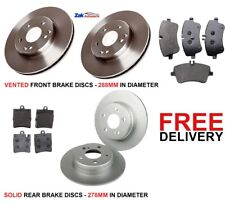FOR MERCEDES COUPE C180 C200 CDi (2001-2007) FRONT & REAR BRAKE DISCS & PADS SET