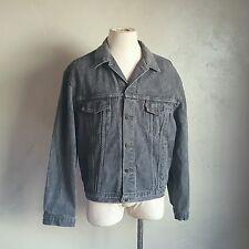 VTG ~ LEVIS ~ Trucker Jacket ~ Faded Black ~ XL ~ Punk/Rocker ~ Jean/Denim