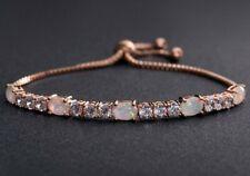 TARARI Inspired 18K Rose Gold Promise Bracelet with Opal Created Gemstones