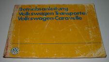 Betriebsanleitung VW Transporter T 3 Bus Bulli Caravelle T3 Stand Juli 1983!