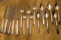 16 Piece Lot Holmes & Edwards Flatware Knives Fork Teaspoon Youth  Silver Plate