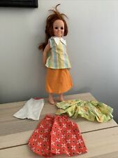 """Crissy Doll Red Hair That Grows Clothes 1969 Ideal 18"""" Lot VTG"""