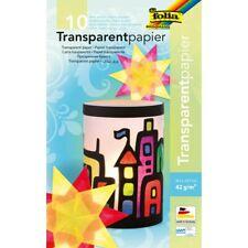 folia Transparentpapier A4 42 g/qm farbig  Papierbasteln Papiere Transparent!