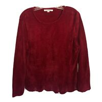 Mercer Street Studio Lace Knit Pullover Sweater Size L Burgandy Color