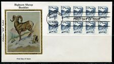 United States Colorano 1982 Bighorn Sheep Booklet Pane First Day Cover