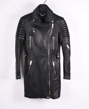 Burberry Prorsum Runway Women Biker Style Leather Jacket Coat Size 42