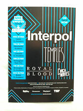 NME awards 2014 promo FLYER interpol temples royal blood live tour