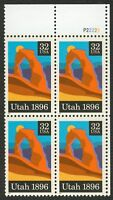 #3024 32c Utah Statehood, Plate Block [P22222 UR], Mint **ANY 4=FREE SHIPPING**