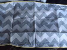 Pottery Barn Kids CHEVRON  LUMBAR  Pillow cover 12 X 24  GRAY/yellow trim