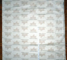 DOWNTON ABBEY Mansion + Logo  New Cotton Fabric by Andover -  bty
