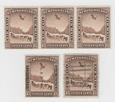 Newfoundland MNH C9 Strip of 3(Middle Stamp Is Unwatermarked), MLH 211, Used C6
