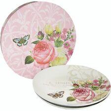 Collection Jardin Rose Set de 2 assiettes 21 cm dans boite cadeau PPD