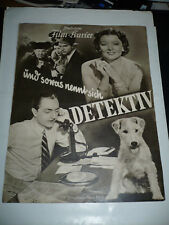 THE THIN MAN, orig 8pg Berlin Film program [William Powell, Myrna Loy, Asta]