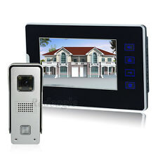 Wired 7 inch touch Key Screen Video door phone Intercom Entry Set Metal Camera