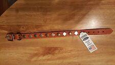 "Auburn Leathercrafters ~ Heirloom Studded Dog Collar - 16"""