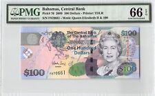 Bahamas 2009 P-76 PMG Gem UNC 66 EPQ 100 Dollars