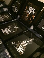 Grand Theft Auto III ULTRA RARE full Set All 6 Limited Edition Lithographs