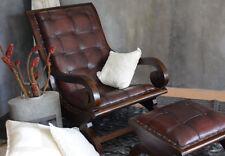Chesterfield Ledersessel Hocker Loungesessel Echteder Sessel Antik Retro Vintage