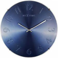 Boyle NeXtime Modern Indoor Stylish Wall Clock Elegant Dome - Blue Metalic