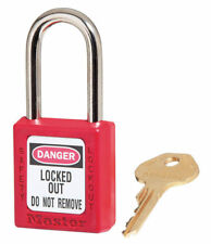 Master Lock 410 RED Keyed Different Safety Lockout Padlock NEW
