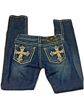 Miss Me Cross Pocket Straight Distressed Jeans Women's Size 25