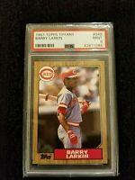 1987 Topps Tiffany Barry Larkin HOF RC Rookie PSA 9 Reds #648