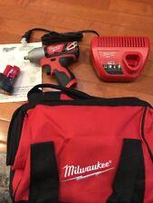 "New Milwaukee M12 12V Li-Ion 3/8"" Impact Wrench Kit 2463-21 2463-20 Battery"