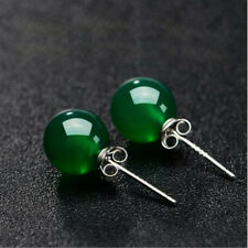 Duovin Fashion Elegant OL Earring Woman Red Green Agate Stud Earrings Jewelry