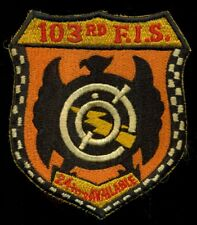 USAF 103rd Fighter Interceptor Squadron Patch N-8