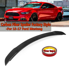 Real Carbon Fiber Factory Style Rear Trunk Spoiler For 2015-2019 Ford Mustang
