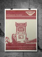 Stranger Things Inspired Retro Print/ Poster A3 - Minimalist Prints Digital Art