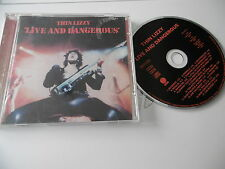 THIN LIZZY : LIVE AND DANGEROUS REMASTERED 17 TRACK CD ALBUM VERTIGO