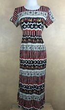 Gemma Ethnic Floral Stripe Butterflies Rayon Crinkle Casual Dress XS-S