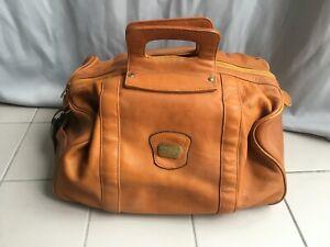 Vintage Ledertasche Weekender Reisetasche Duffle Bag Vollleder