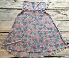 LulaRoe Azure Pink Purple floral Skirt Size XS
