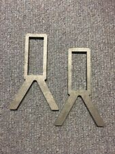 "AR500 Steel Target Stand 2x4 Holder 3/8"" Thick Set of 2 USA Made"