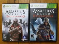 USED Assassins Creed Brotherhood + Revelations Xbox 360 Lot of 2 - Free Shipping
