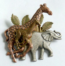 Animals Silver Vintage Costume Brooches/Pins (1950s)