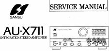 SANSUI AU-X711 INTEGRATED STEREO AMP SERVICE MANUAL INC SCHEMS PRINTED BOUND ENG