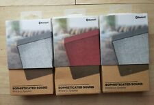 Lot of 3 Solaray Portable Wireless Bluetooth Speaker Sophisticated Sound
