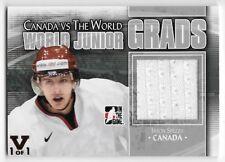 11/12 ITG CANADA vs WORLD JUNIOR GRADS VAULT SILVER GAME JERSEY Jason Spezza 1/1
