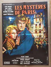 """AFFICHE CINEMA : """"Les Mystères de Paris"""" 1962 avec Jean Marais"""