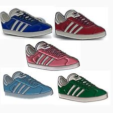 More details for adidas casual trainer pack of five enamel pin badges- 5 pack