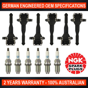 6x NGK Platinum Spark Plugs & 6x Swan Ignition Coils for BMW 320 323 325 330