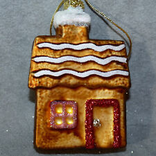 Christmas Ornament Building Glass POLONAISE Gingerbread House Copper USA SELLER