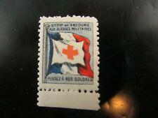 poster stamp cinderella vignette marken secours blesses militaires guerre 14