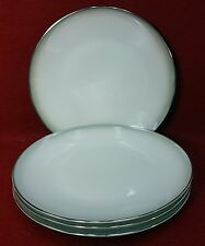 "ROSENTHAL china Pattern 3470 ""Shadow Edge"" Set of Four (4) Salad Plates - 7-5/8"""