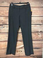 Women's Worthington Straight Leg Dress Pants Size 8 Gray New