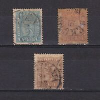 NORWAY 1863, Sc# 8-10, CV $163, part set, Used